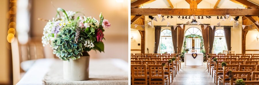 interior of King Arthur Hotel wedding ceremony