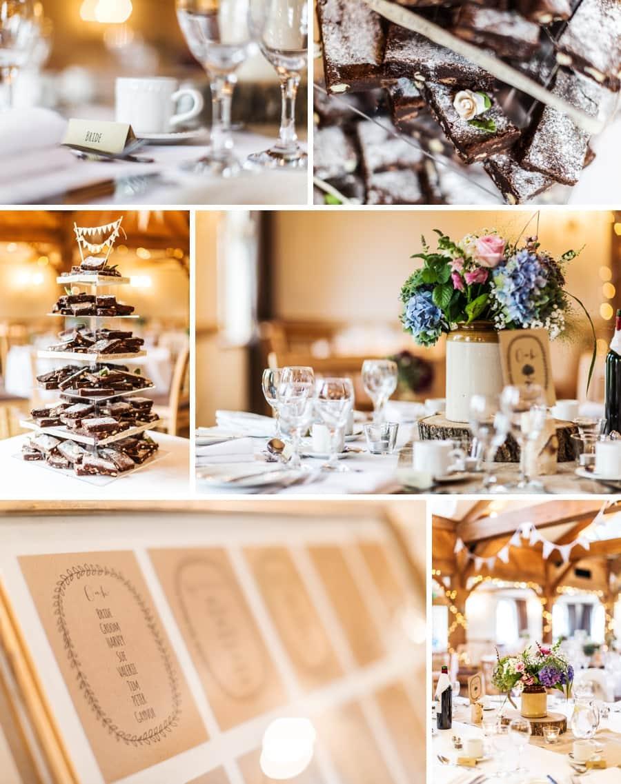 details at a king arthur hotel wedding