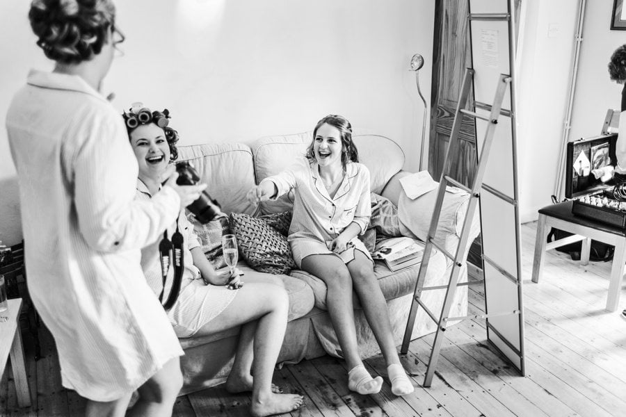 bridal preparations for a Cripps Barn Wedding