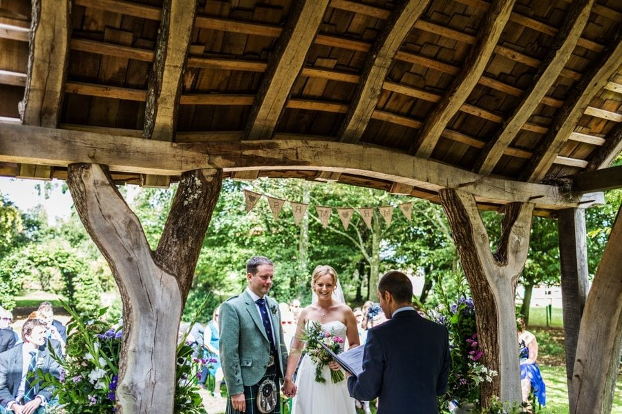 outdoor ceremony at a Cripps Barn Wedding