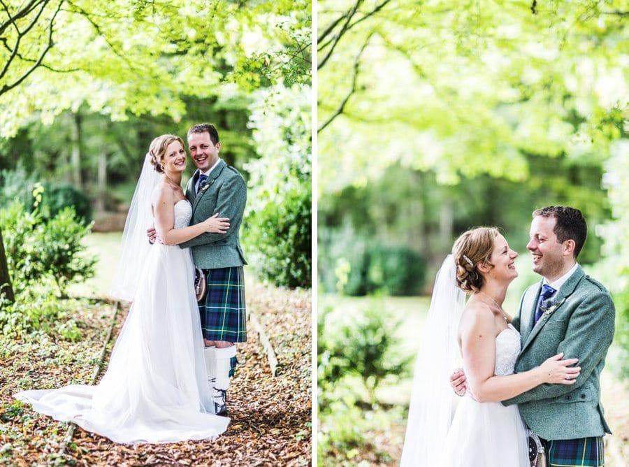 Bride and groom at a Cripps Barn Wedding