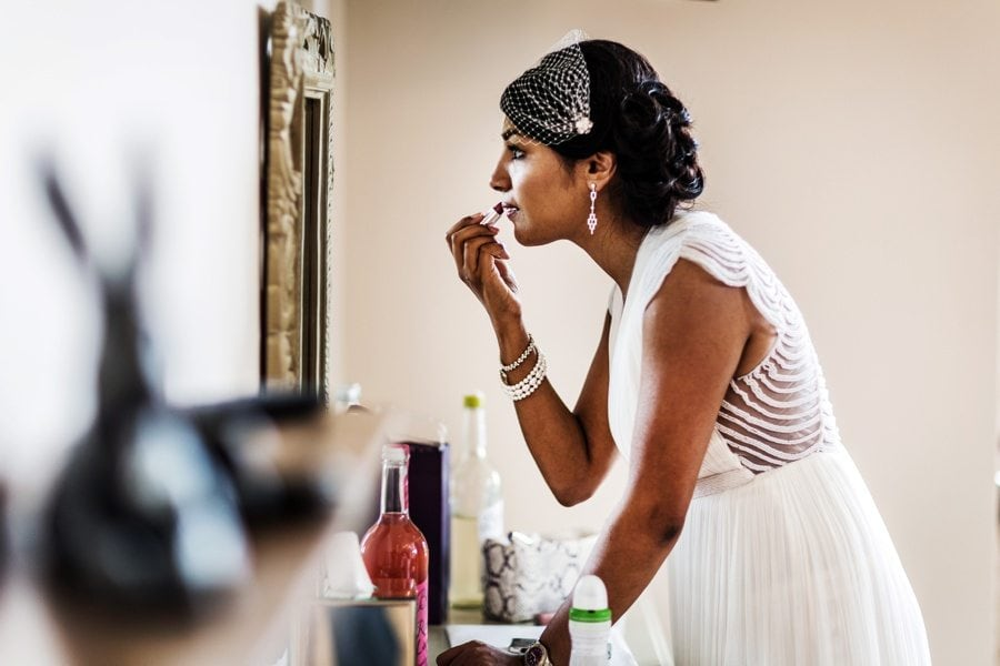 bridal preparations at a coombe lodge wedding