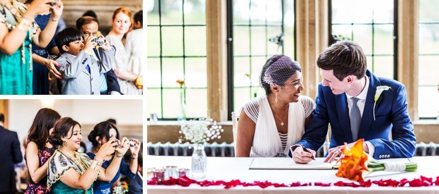 marriage ceremony at a coombe lodge wedding