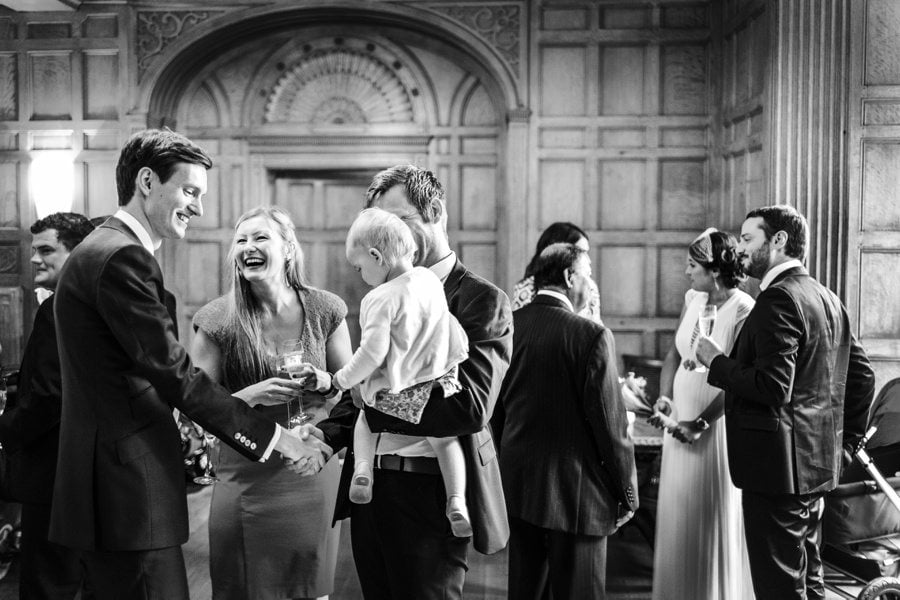 drinks reception at a coombe lodge wedding