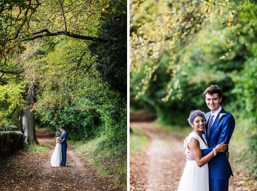 bride and groom portraits at a coombe lodge wedding