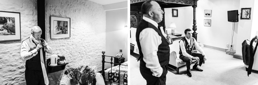 groom preparations at a miskin manor wedding