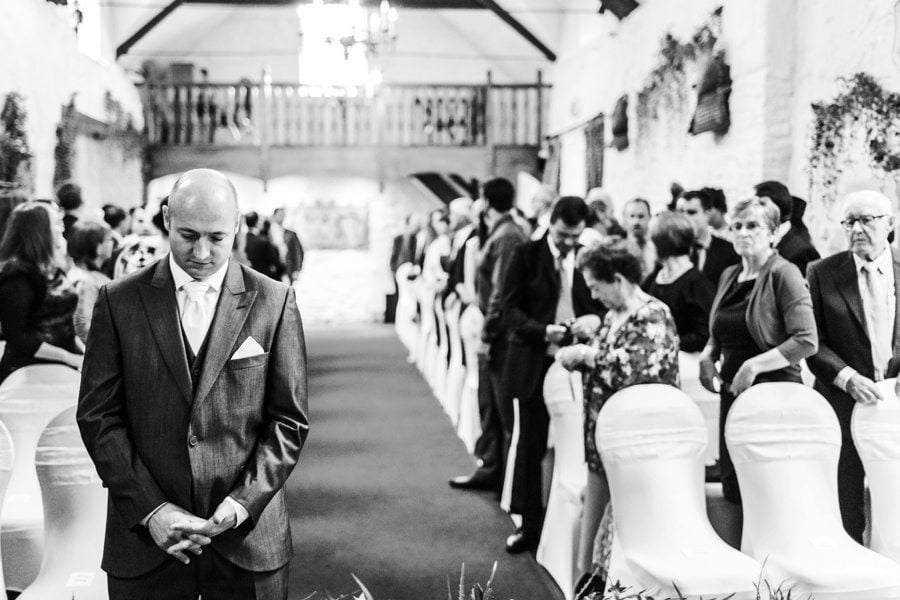 ceremony at a miskin manor wedding