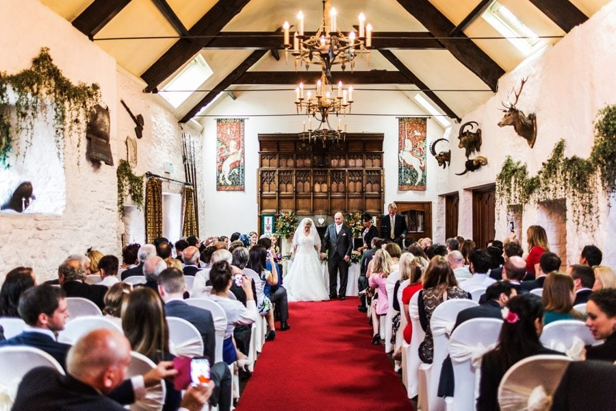 ceremony at a family groups at miskin manor wedding