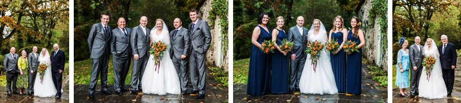 family groups at miskin manor wedding