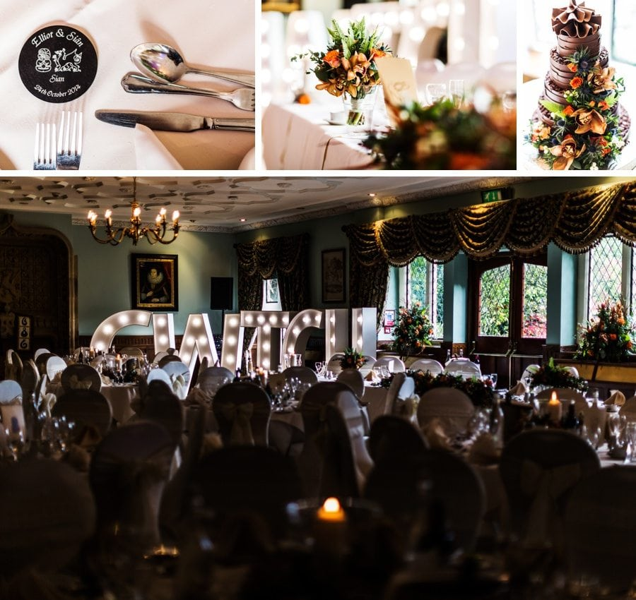 wedding details at miskin manor