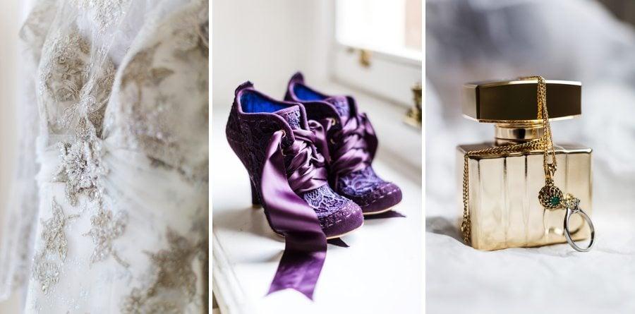 wedding details at Buckland Hall
