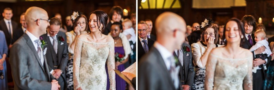 wedding ceremony at Buckland Hall