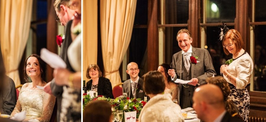 speeches at a Buckland Hall wedding