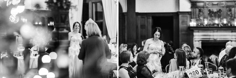 evening wedding reception at Buckland Hall