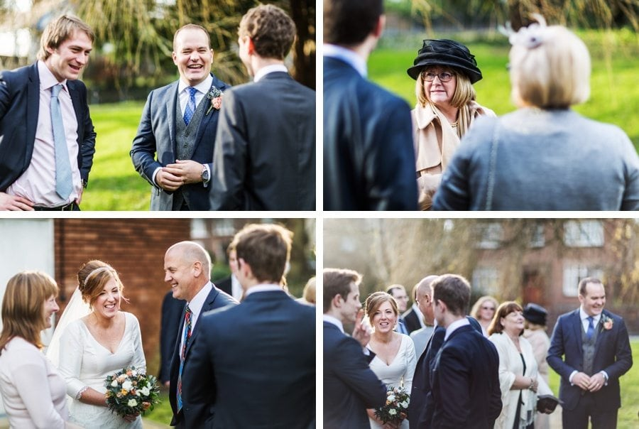 wedding celebrations at cardiff church wedding