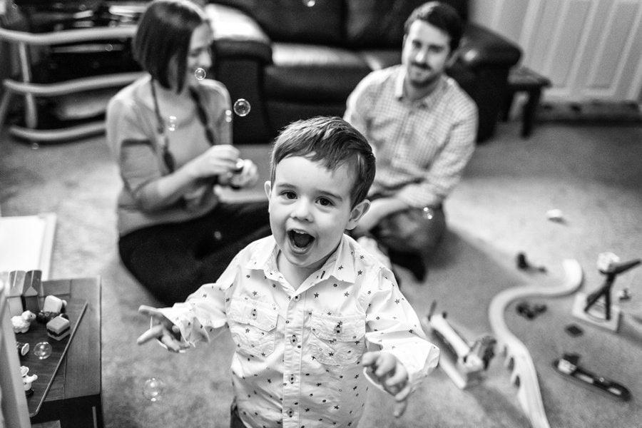boy shouting to camera