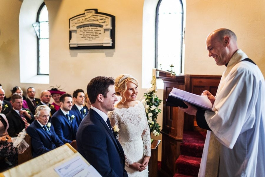 wedding ceremony in west wales church