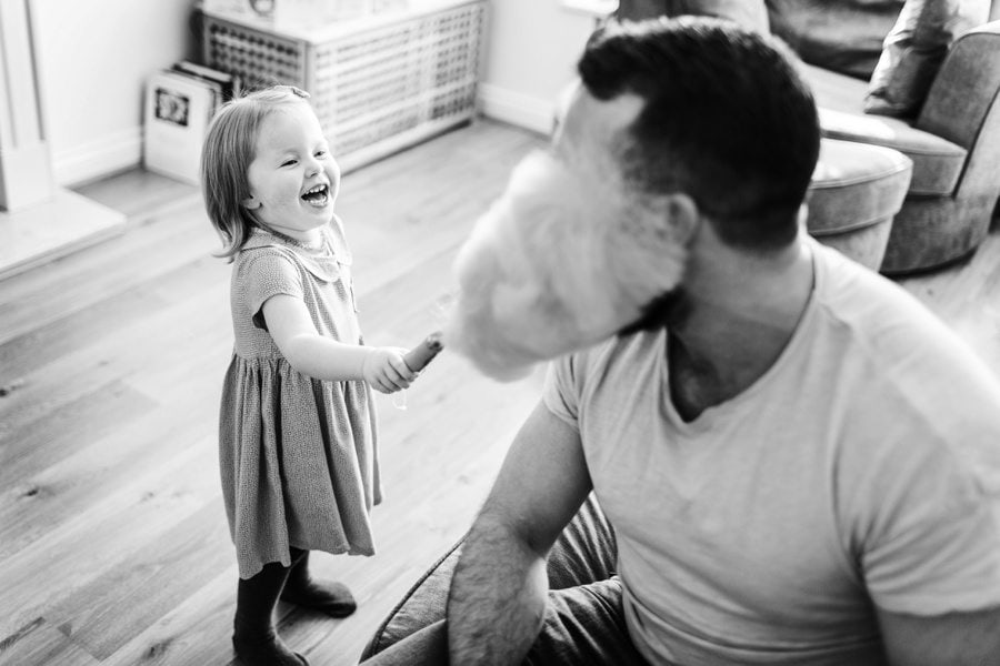 little girl and her daddy