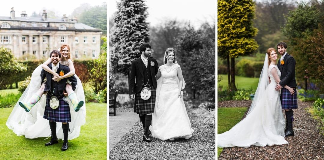 wedding photography at Balbirnie House in Scotland