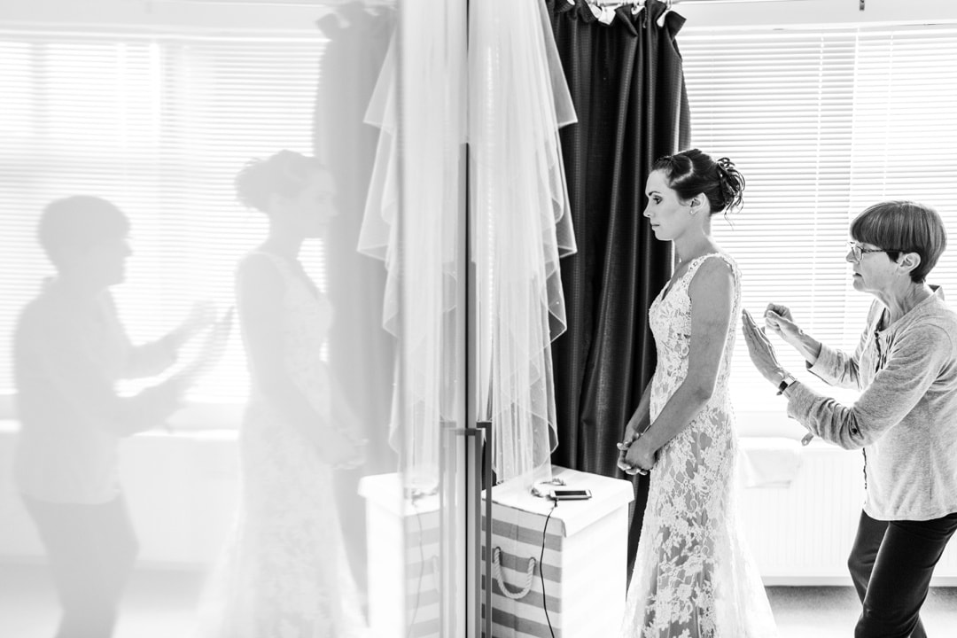 bridal preparations for wedding in south wales