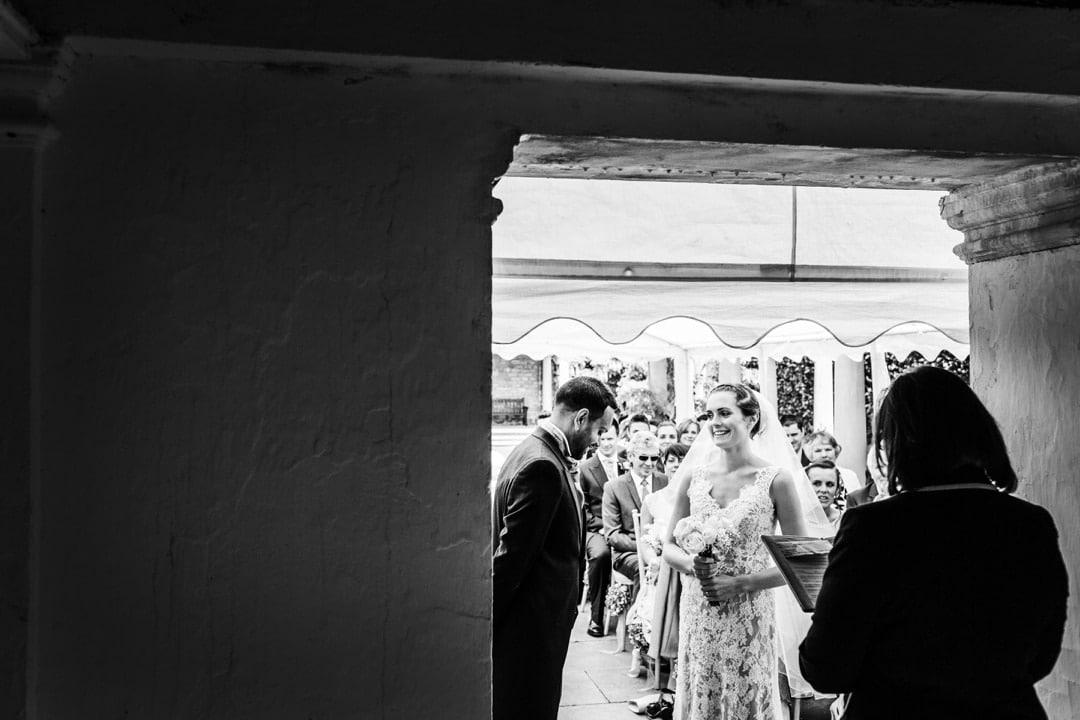 wedding ceremony at a dyffryn gardens in south wales