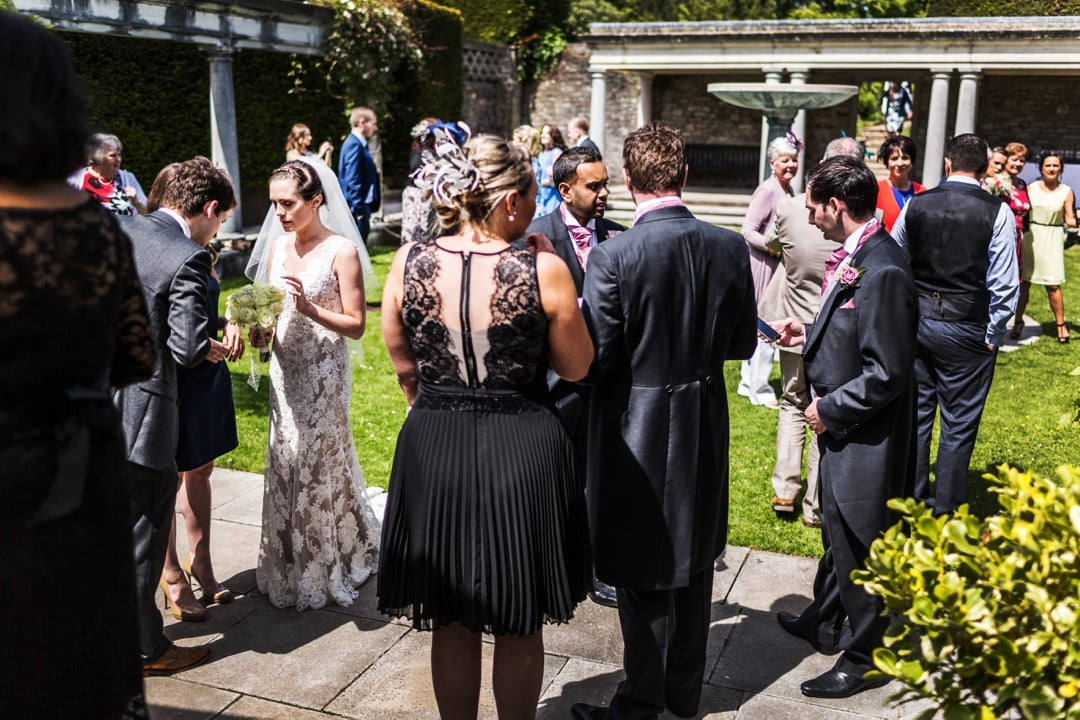wedding reception at a dyffryn gardens in south wales