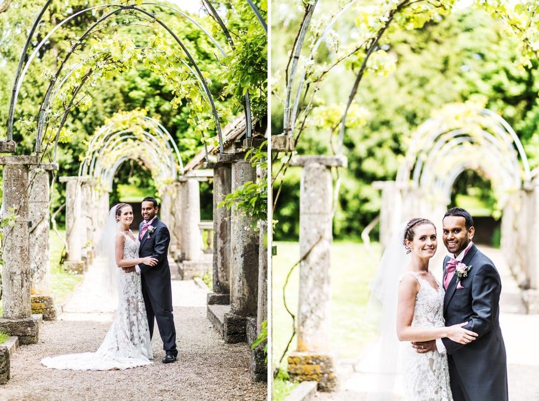 bride and groom at a dyffryn wedding in south wales
