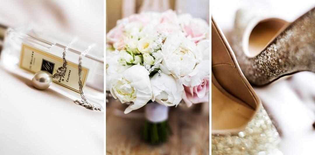 wedding flowers, shoes & perfume
