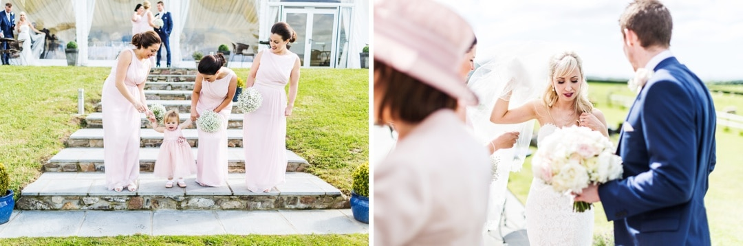 wedding group photography at ocean view windmill