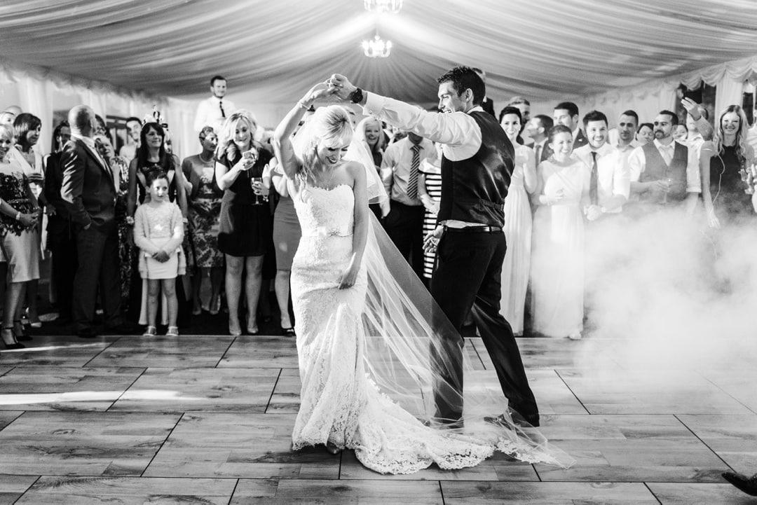 first dance at ocean view windmill wedding