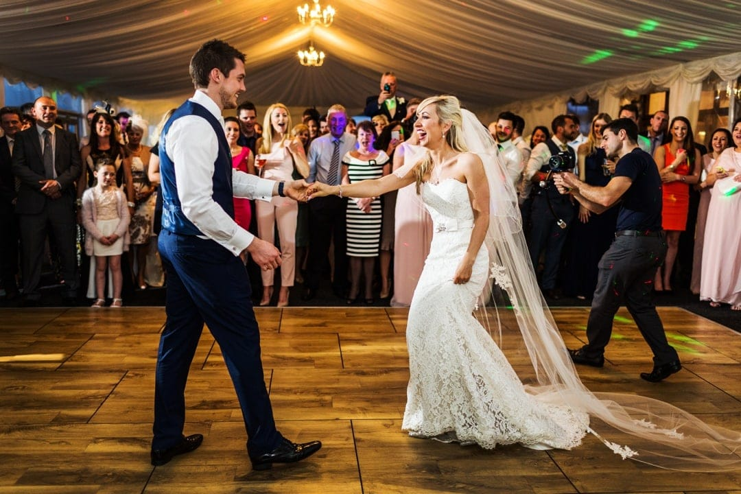 dancing at ocean view windmill wedding