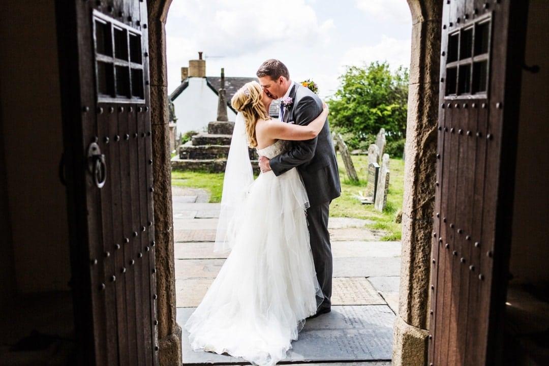 Church wedding in South Wales