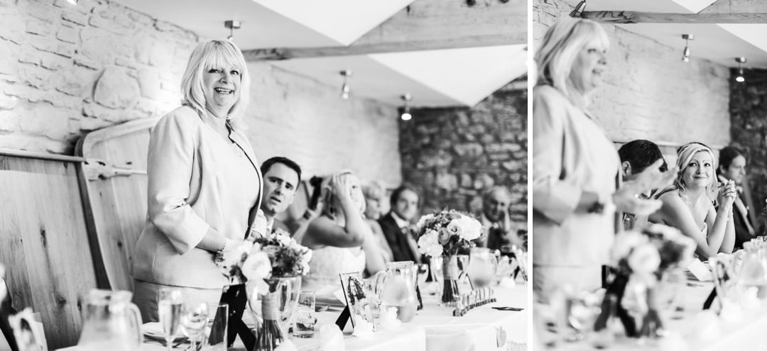 wedding photography of speeches at porthmawr country house