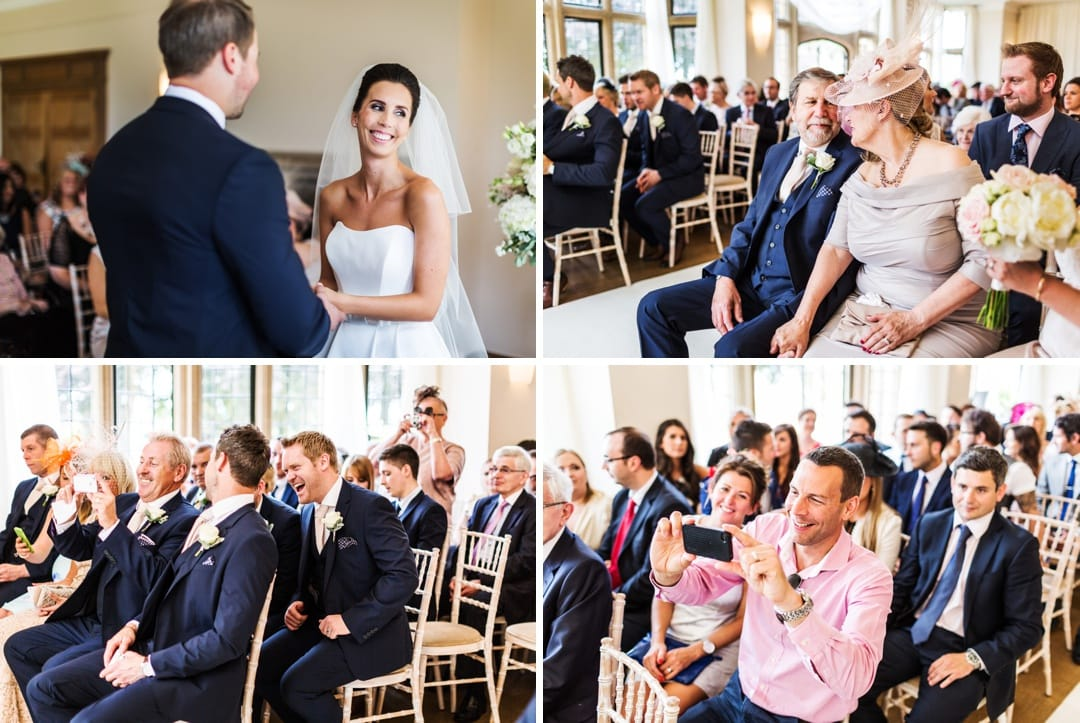marriage ceremony at coombe lodge