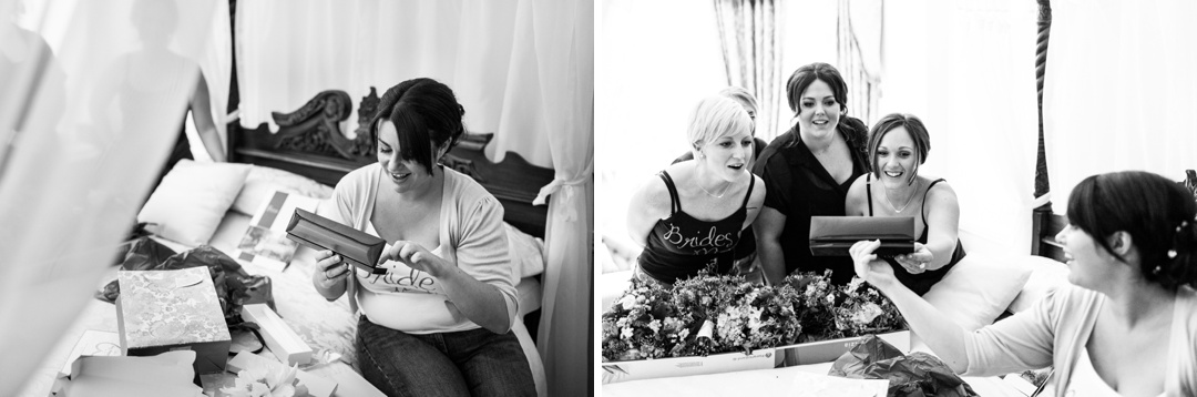 bridal preparations at Parkfields Country House
