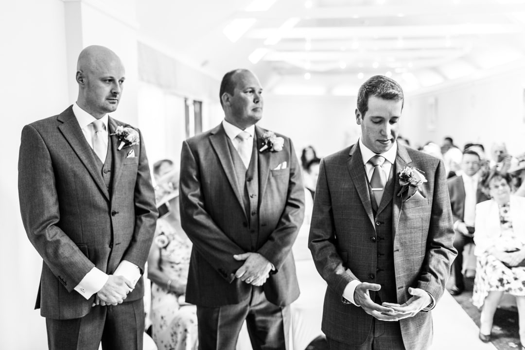 wedding ceremony at Parkfields Country House