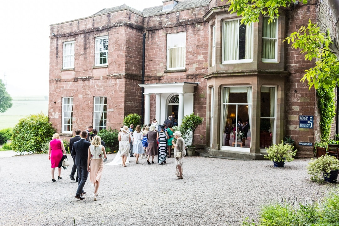 wedding guests at Parkfields Country House