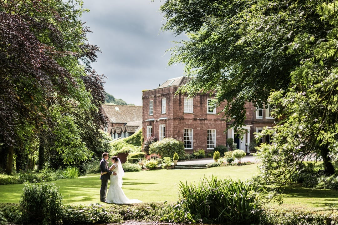 bride and groom at Parkfields Country House