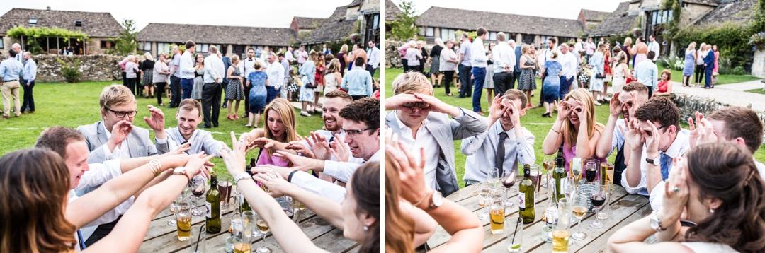drinking game at wedding