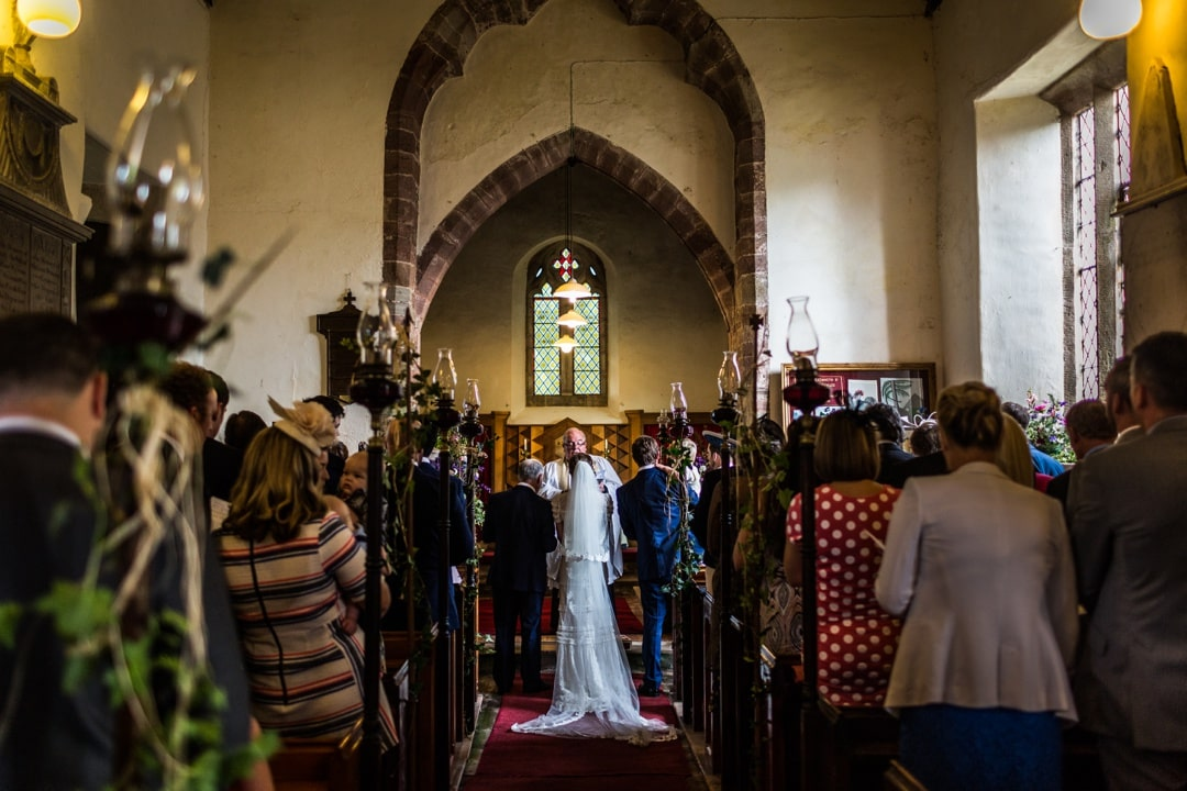 marriage ceremony church at south wales wedding