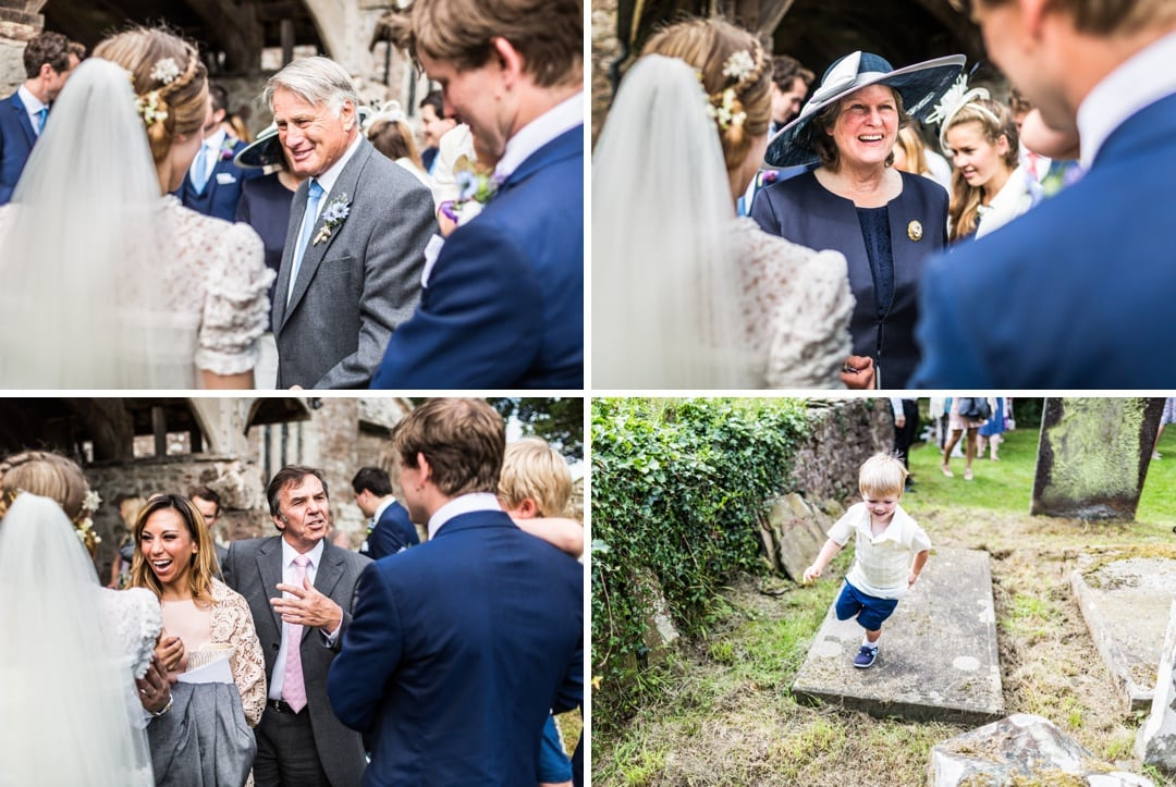 guest celebrate church at south wales wedding