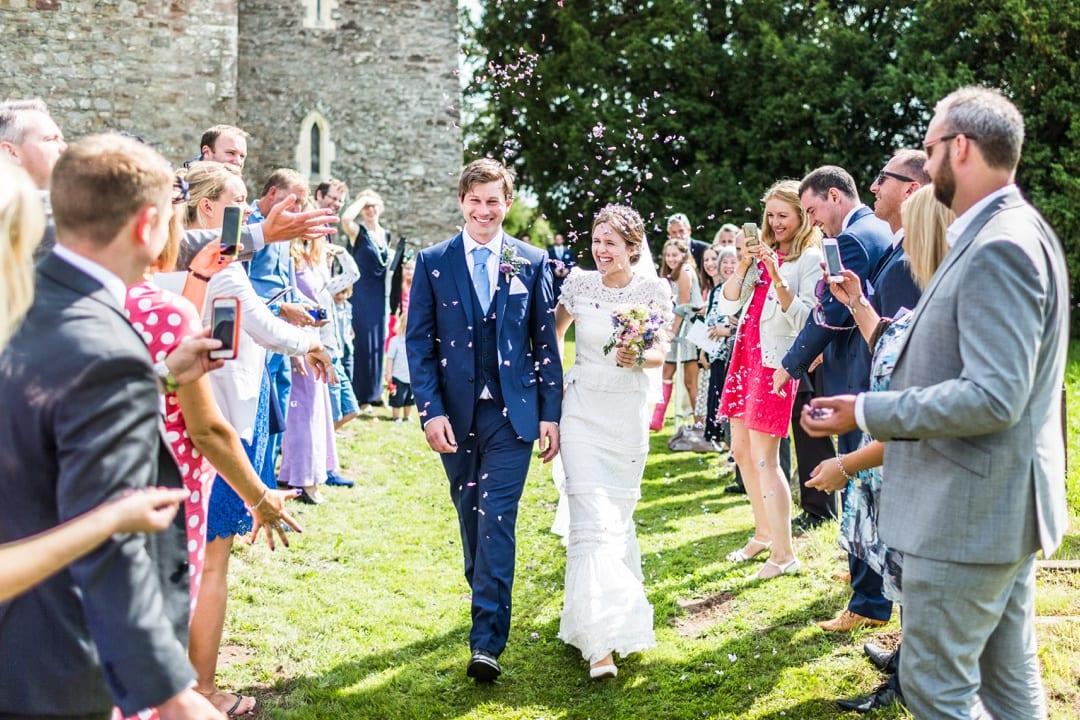confetti church at south wales wedding