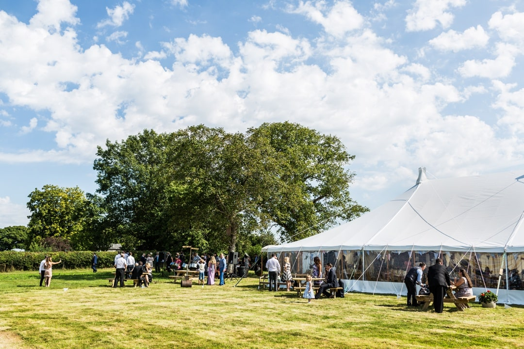 marquee church at south wales wedding
