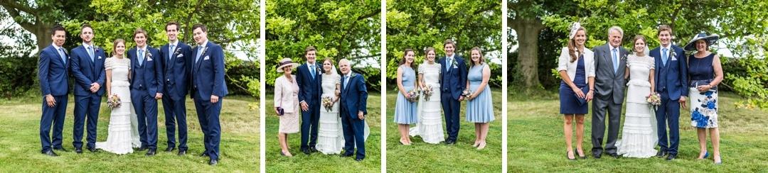 family group shots church at south wales wedding