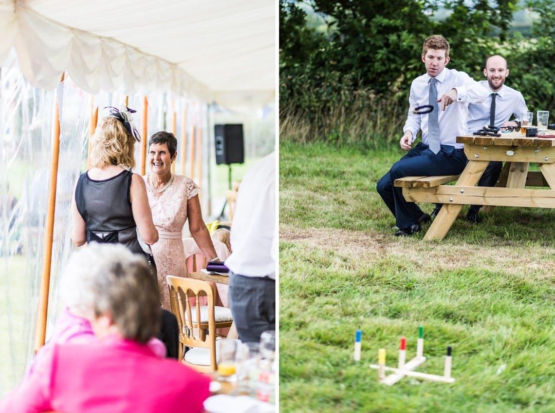 guests at south wales wedding