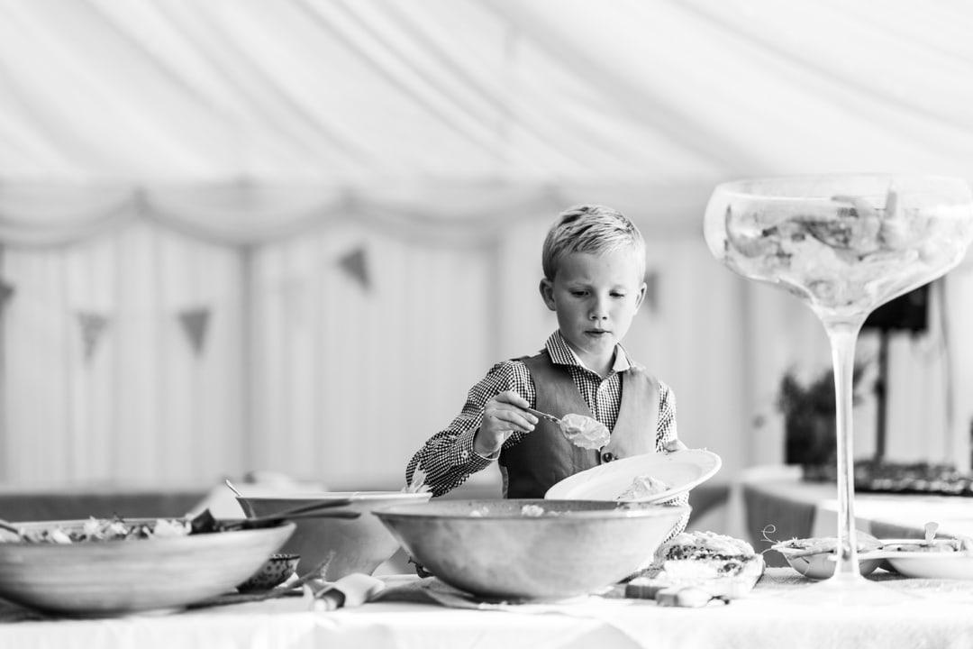 food serving at south wales wedding