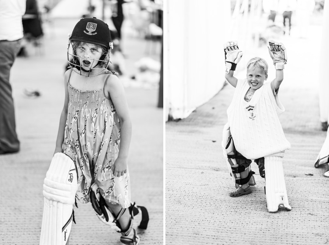 children dressing up at south wales wedding