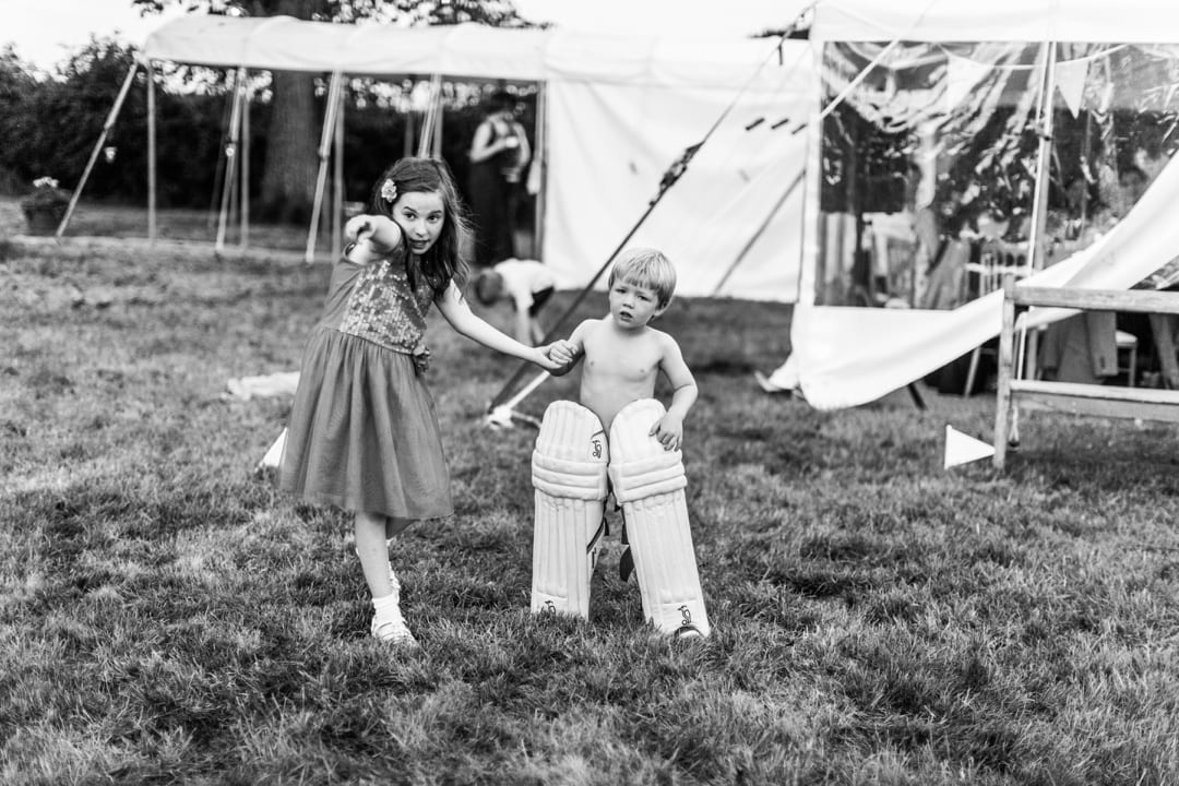children at south wales wedding