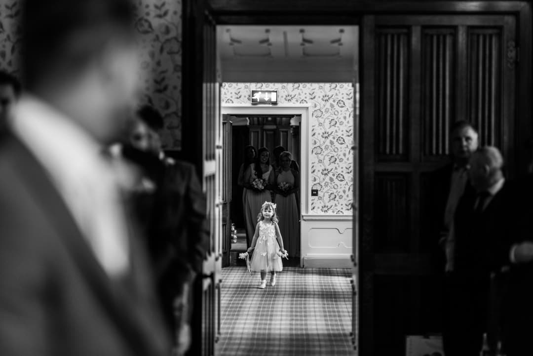 flower girl at hensol castle wedding