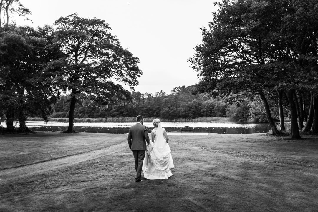 bride and groom portraits at Hensol Castle wedding
